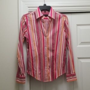 The Limited Pink Striped Button Down